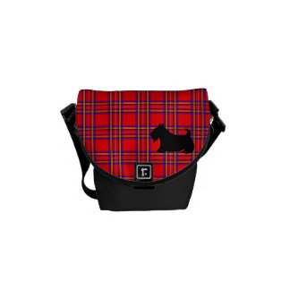 Plaid Scottie Mini Messenger Bag