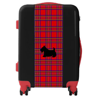 Plaid Scottish Terrier Scotty Dog Suitcase Luggage