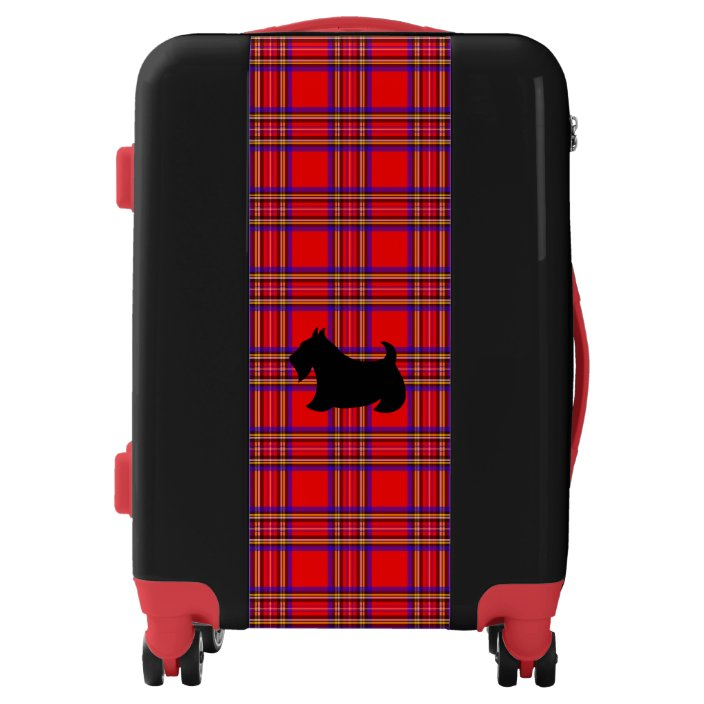 Red Scottish Pattern Luggage Tags Bag Travel Labels For Baggage Suitcase