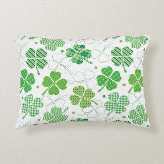 Plaid Shamrocks Accent Pillow