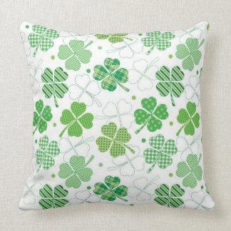 Plaid Shamrocks Pillows