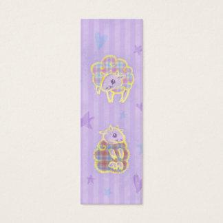 Plaid Sheep Bookmark Mini Business Card