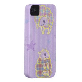 Plaid Sheep iPhone 4 Case-Mate Case