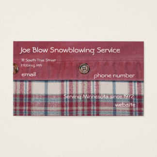Plaid Shirt Business Card