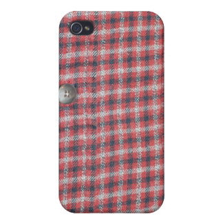 Plaid Shirt Case For iPhone 4