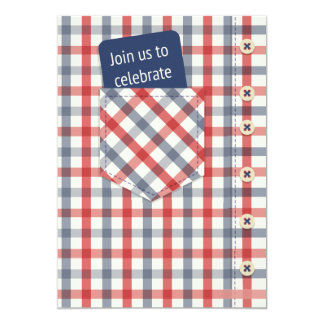 Plaid Shirt Father's Day Invitation