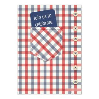 Plaid Shirt Father's Day Invitation