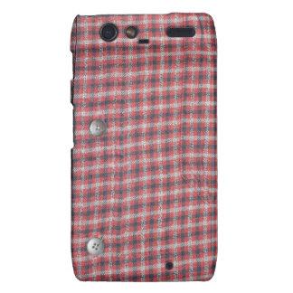 Plaid Shirt / Flannel Shirt pattern Motorola Droid RAZR Cover