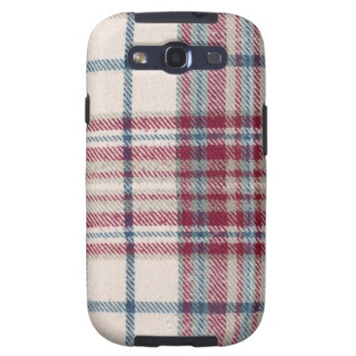Plaid Shirt / Flannel Shirt pattern Galaxy S3 Cases