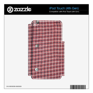 Plaid Shirt / Flannel Shirt pattern Skin For iPod Touch 4G