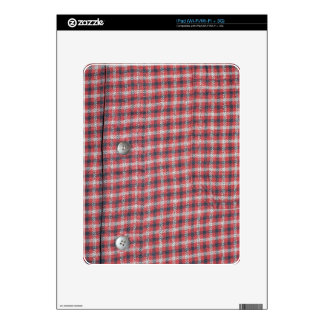 Plaid Shirt / Flannel Shirt pattern Decals For The iPad