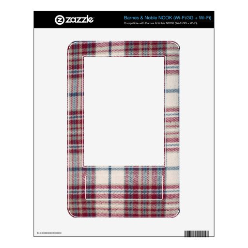 Plaid Shirt / Flannel Shirt pattern Decal For The NOOK