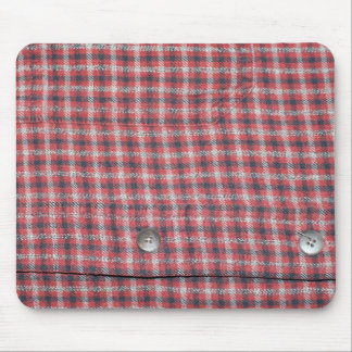 Plaid Shirt Mouse Pad