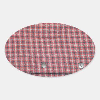 Plaid Shirt Oval Sticker