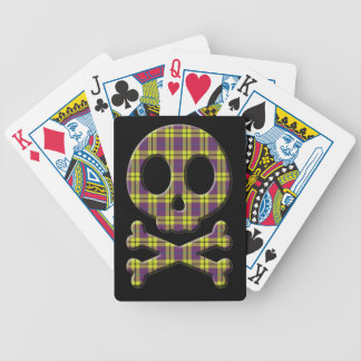 Plaid Skull Bicycle Playing Cards