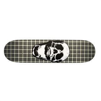 Plaid Skull Skateboard