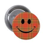 Plaid Smile Button