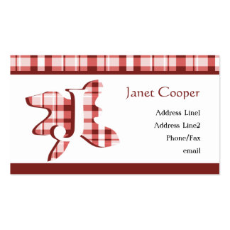 Plaid Splash Profile Card: Brick Red Double-Sided Standard Business Cards (Pack Of 100)
