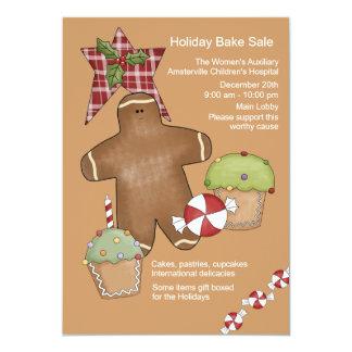 Plaid Star Holiday Bake Sale Invitation