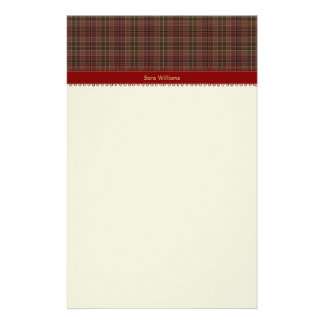 Plaid Stationery Paper