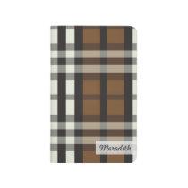 Plaid Tartan Pattern Pocket Journal (chocolate)