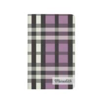 Plaid Tartan Pattern Pocket Journal (lavender)