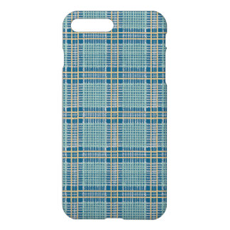 Plaid Teal Blue and Yellow iPhone 7 Plus Case