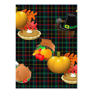 plaid thanksgiving card