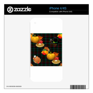 plaid thanksgiving iPhone 4 decal