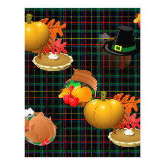 plaid thanksgiving letterhead