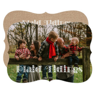 Plaid Tidings Holiday Card