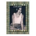 Plaid Tiffany Blue Sweet 16 Birthday Photo Cards profilecard