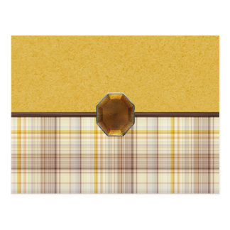Plaid Topaz Postcard
