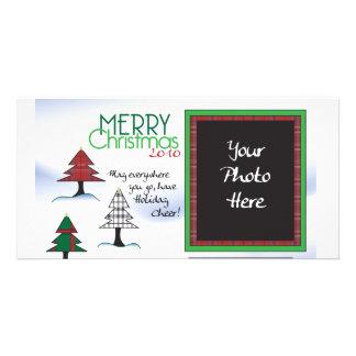 Plaid tree Chrsitmas Card Photo Card