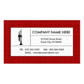 plaid trumpet business card