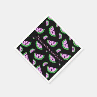 Plaid Watermelon Slice Pattern Napkin