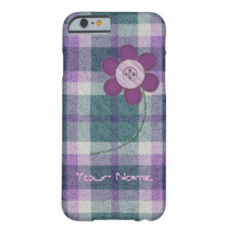 Plaid With Flower Barely There iPhone 6 Case