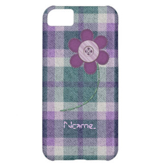 Plaid With Flower iPhone 5C Cover