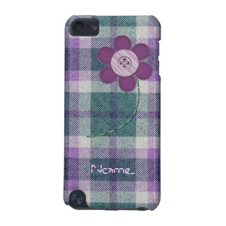 Plaid With Flower iPod Touch 5G Case