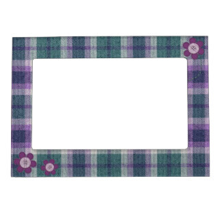 Plaid With Flowers Frame