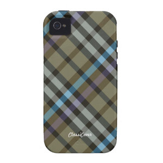 Plaid Yellow Blue Case Mate Vibe iPhone 4 Case