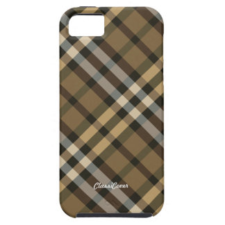 Plaid Yellow Brown Case Mate iPhone 5 Cover