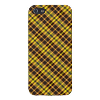 Plaid Yellow Brown Pattern Savvy iPhone 5 Case