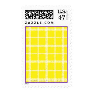 Plaid Yellow Stamp