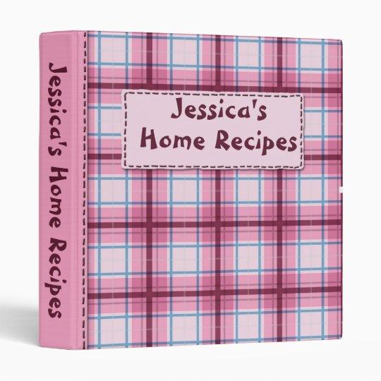 Plaidly Perfect Pink Kitchen Recipe Binder