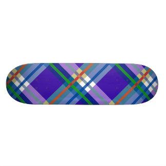 Plaids, Checks and Tartans in  Blue Purple Skateboard Deck