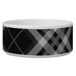 Plaids, Checks, Tartans Black And White Bowl