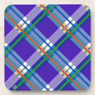 Plaids, Checks, Tartans Blue Drink Coaster
