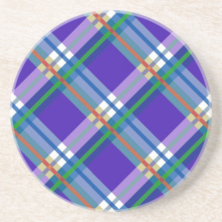 Plaids, Checks, Tartans Blue Sandstone Coaster