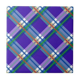 Plaids, Checks, Tartans Blue Tile